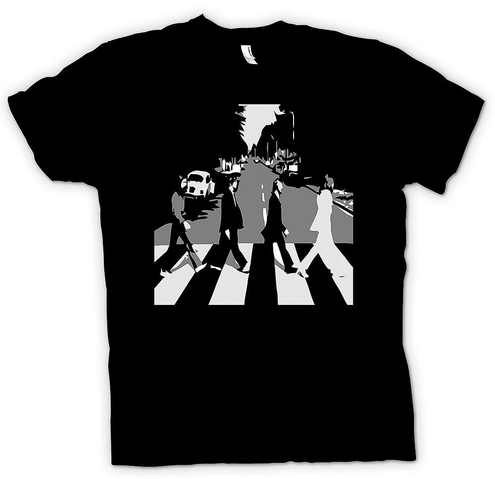 Mens T-shirt - The Beatles Abbey Road - BW