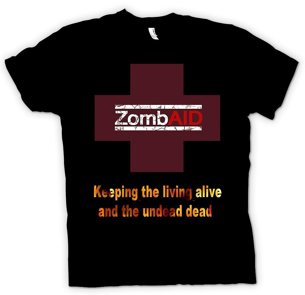 Mens T-shirt - ZombAID Funny Zombie