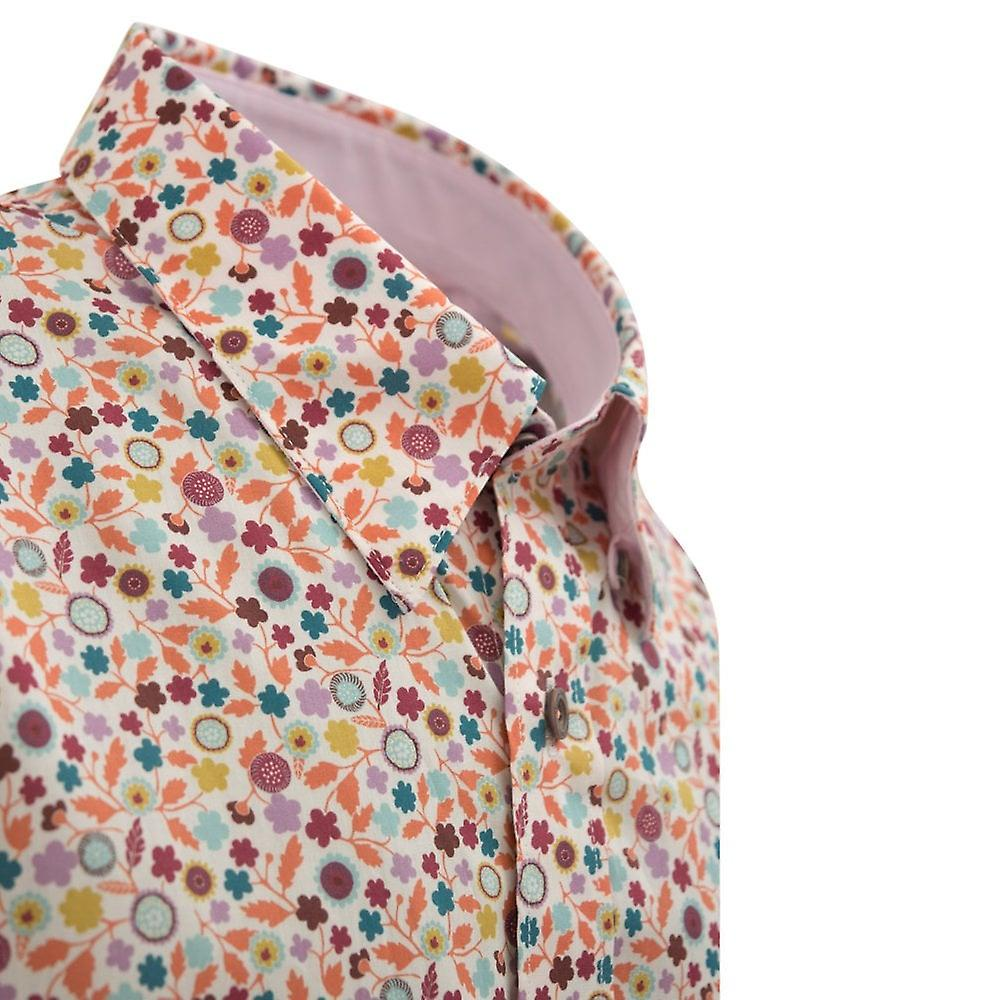 2a665e62db6 Maddox Street Liberty Print Leaf Design Mens Shirt