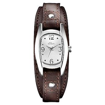 s.Oliver women's watch wristwatch leather SO-3101-LQ