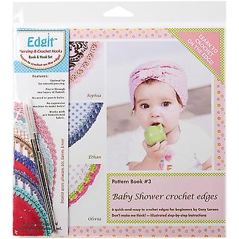 Edgit Piercing Crochet Hook & Book Set-Baby Shower Crochet Edges