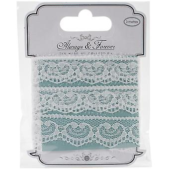 Craft Consortium Always & Forever Lace Ribbon 3M-Heart Chain