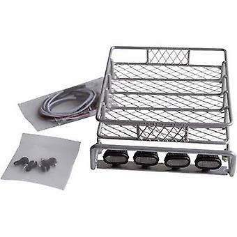 Amewi Roof rack (4 LEDs) Silver