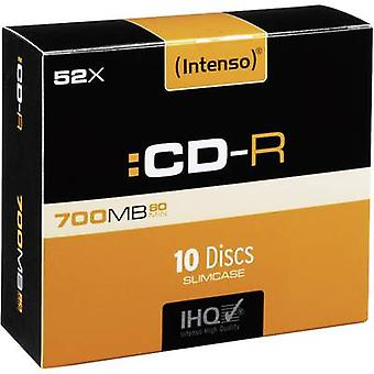Blank CD-R 80 700 MB Intenso 1001622 10 pc(s) Slim case