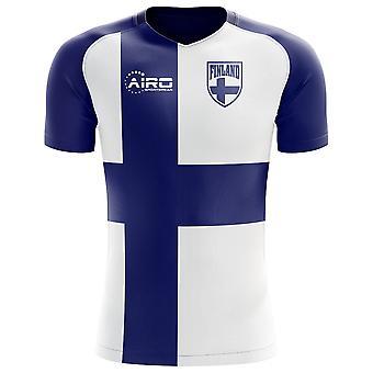 2018-2019 Finnland Flagge Konzept Fußballtrikot (Kids)