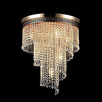 Maytoni Lighting Cascade Diamant Crystal Ceiling Lamp, Gold