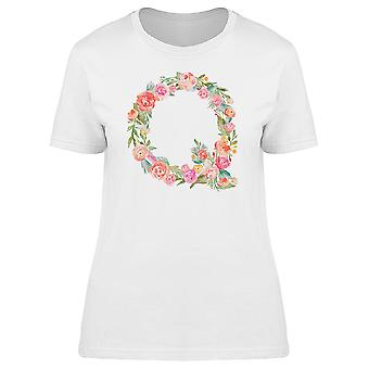 The Letter Q With Flowers Tee Women's -Image by Shutterstock
