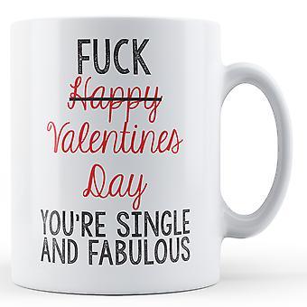Dekorative Schrift Einzel- und fabelhafte Valentinstag Mug