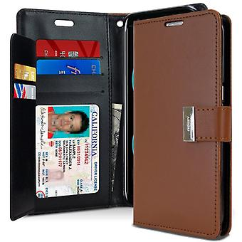Mercury GOOSPERY Rich Diary to Samsung Galaxy S8-Brown