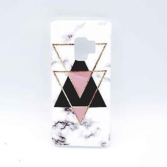 Para Samsung Galaxy S9-cobrir-branco mármore triângulo