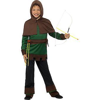 Disfraz de Robin Hood, niños vestido de lujo, gran edad 10-12