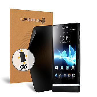 Celicious Privacy Plus 4-Way Anti-Spy Filter Screen Protector Film Compatible with Sony Xperia P