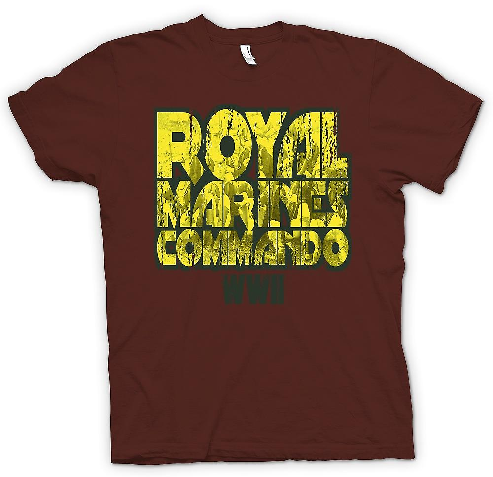 Mens t-skjorte-Royal Marines Commando WW2