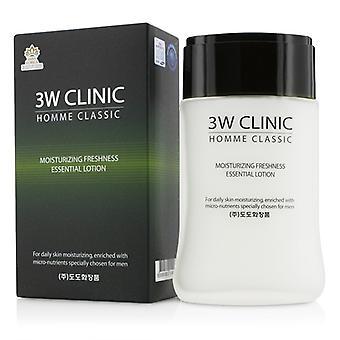 3w Clinic Homme Classic - Moisturizing Freshness Essential Lotion - 150ml/5oz