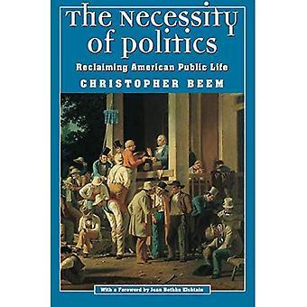 A necessidade da política: Recuperando vida pública americana (moralidade e sociedade série)