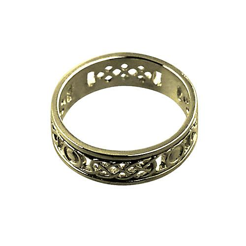 18ct Gold 8mm solid Celtic Wedding Ring