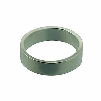 Silver 6mm plain flat Wedding Ring Size Z