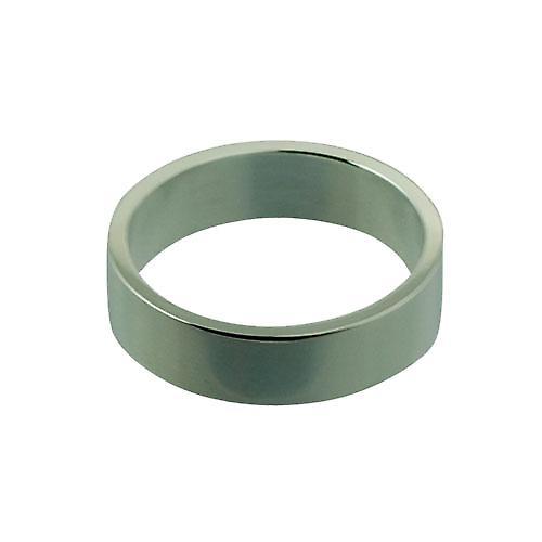 Silver 6mm plain Flat Wedding Ring