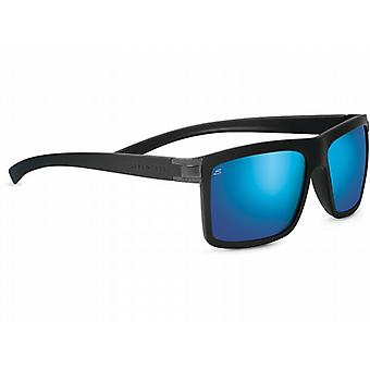Serengeti Brera Sunglasses (Sanded Black Frame Polarized 555NM Blue Lens)