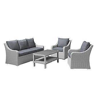 نوفا-هاربر القش في الهواء الطلق مجموعة-3 مقعد أريكة الحديقة & كراسي مع طاولة القهوة