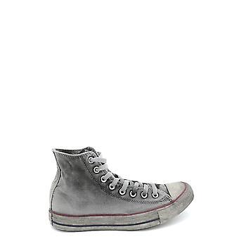 القماش الرمادي العكس مرحبا أعلى أحذية رياضية