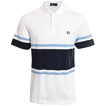 Fred Perry M5578 fet fin Stripe Polo Snow White