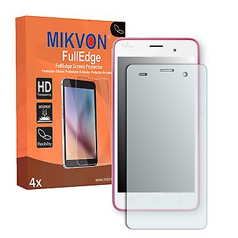 Wiko Jerry screen protector - Mikvon FullEdge (screen protector with full protection and custom fit for the curved display)