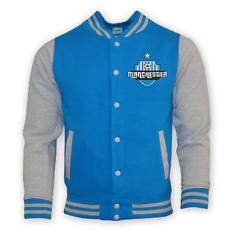 Man City College Baseball Jacket (sky Blue) - Kids