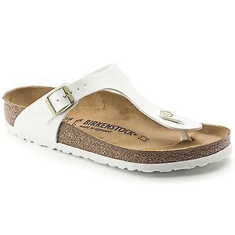 Womens Birkenstock Gizeh Birko-Flor Patent Summer Holiday Toe Post Sandal