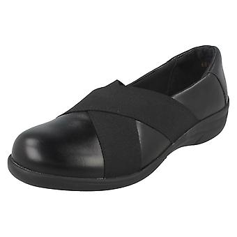 Ladies Easy B Wide Fitting Flat Shoes Florac
