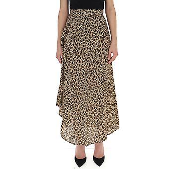 Andamane Leopard Cotton Skirt