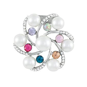 Eternal Collection Galactica Faux Pearl And Crystal Scarf Clip