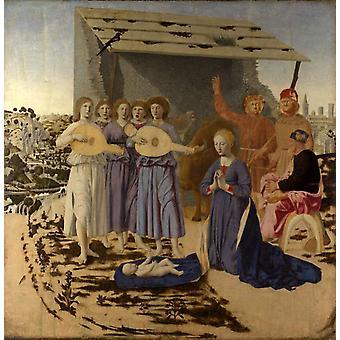 Рождество, Пьеро делла Франческа, 50x50cm