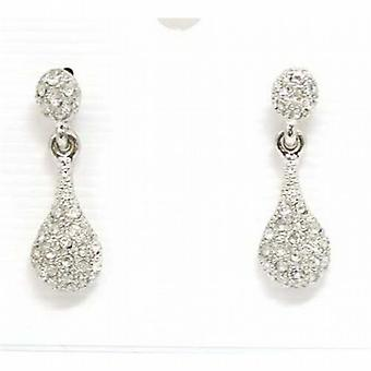 The Olivia Collection Silvertone Clear Glass Set Drop Earrings