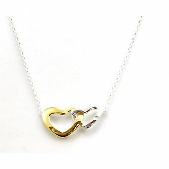 Toc Sterling Sterling Silver Diamond Set Double Heart Pendant