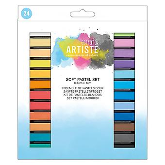 Docrafts Artiste Soft Pastel Set of 24 Colours