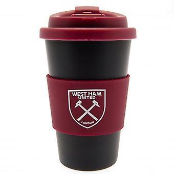 West Ham United silikon Grip Travel mugg