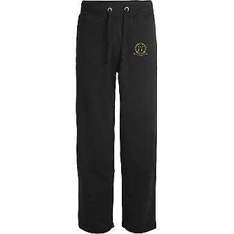 4ème Queen's Own Hussars - Licensed British Army Embroidered Open Hem Sweatpants / Jogging Bottoms