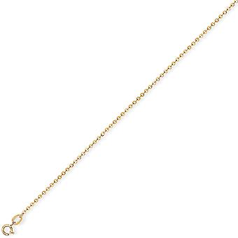 Jewelco London 18ct Gold Fine Trace Pendant Chain Necklace 1.05mm