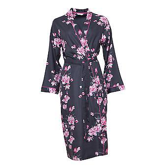 Cyberjammies 4249 Mujeres's Lola Grey Mix Floral Algodón Long Robe