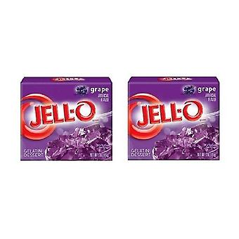 Jell-O Grape Gelatin Dessert Mix 2 Box Pack