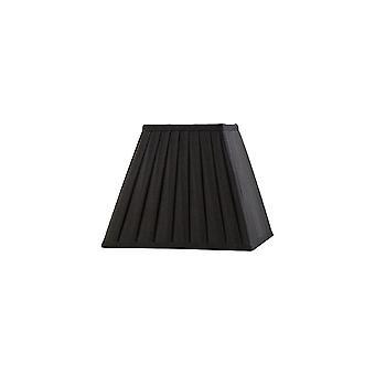 Diyas Leela Square Pleated Fabric Shade Black 100/200mm X 156mm