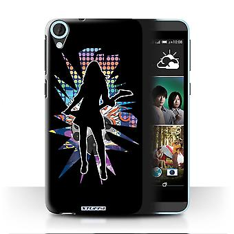 STUFF4 Case/Cover for HTC Desire 820q Dual/Rock Chick Black/Rock Star Pose