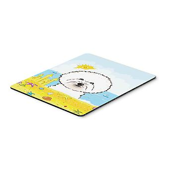 Bichon Frise Summer Beach Mouse Pad, Hot Pad or Trivet BB2085MP