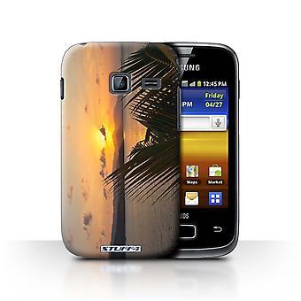 STUFF4 Case/Cover for Samsung Galaxy Y Duos/S6102/Palm Trees/Sunset Scenery