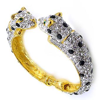 Kenneth Jay Lane 22 Carat Gold Plated Jaguar Cuff Bracelet