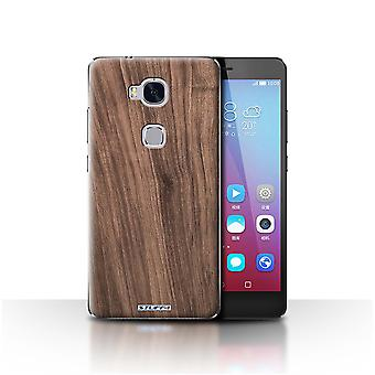 STUFF4 Case/Cover for Huawei Honor 5X/GR5/Walnut/Wood Grain Pattern