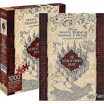 Harry Potter Marauder's Map 1000 piece jigsaw puzzle   690mm x 510mm   (nm)