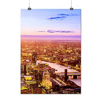 Matte or Glossy Poster with Dawn City Photo Fashion Landscape | Wellcoda | *q1247