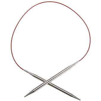 Red Lace Stainless Steel Circular Knitting Needles 24
